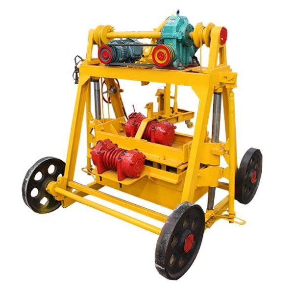 movable mobile egg laying layer cement concrete fly ash brick block making machine