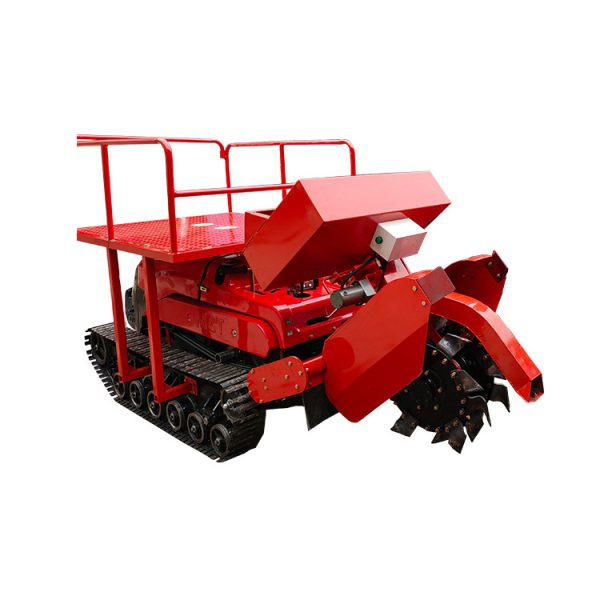 Double Discs Ditcher formini remote controlled crawler tractorcultivator