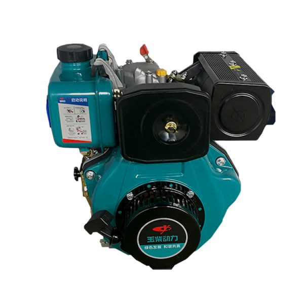 Yuchai YC192F 8kw 11hp single cylinder kick start diesel engine for agriculture use