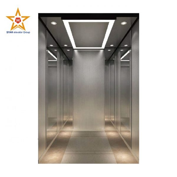 Safe and stable hospital bed elevator with large space