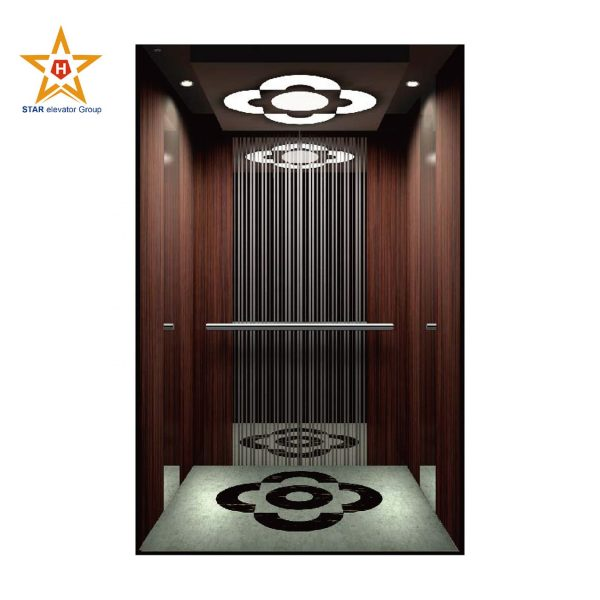VVVF customized mirror etching stainless passenger elevator factory
